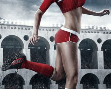 Football Girl Red Jersey