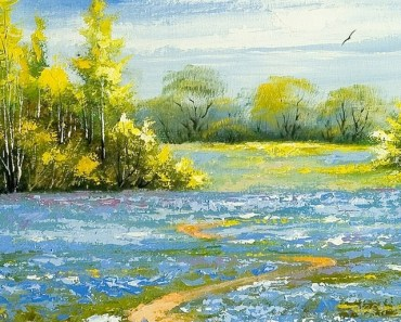 Spring Scenery Painting