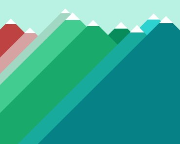 Flat Mountains Illustration