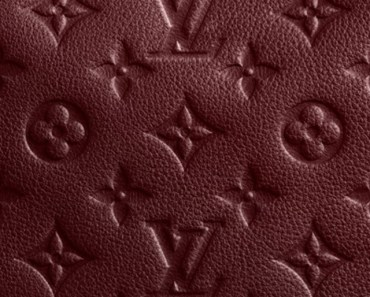 Reddish brown Leather Louis Vuitton Pattern