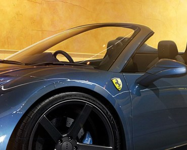 Ferrari 458 Spider Blue