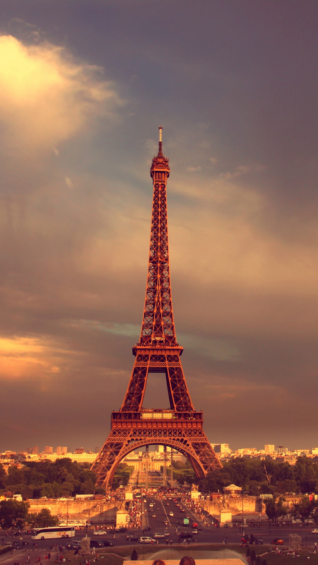 Eiffel Tower Twilight Iphone 6 6 Plus And Iphone 5 4 Wallpapers