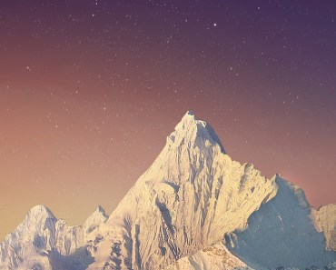 Snowy Mountains Starry Night