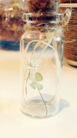 Four Leaf Clover In The Bottle