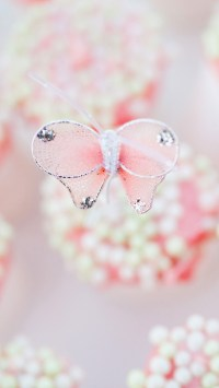 Pink Butterfly Pendant