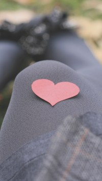 Paper Heart On The Leg