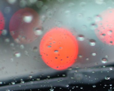Windshield Rain Bokeh