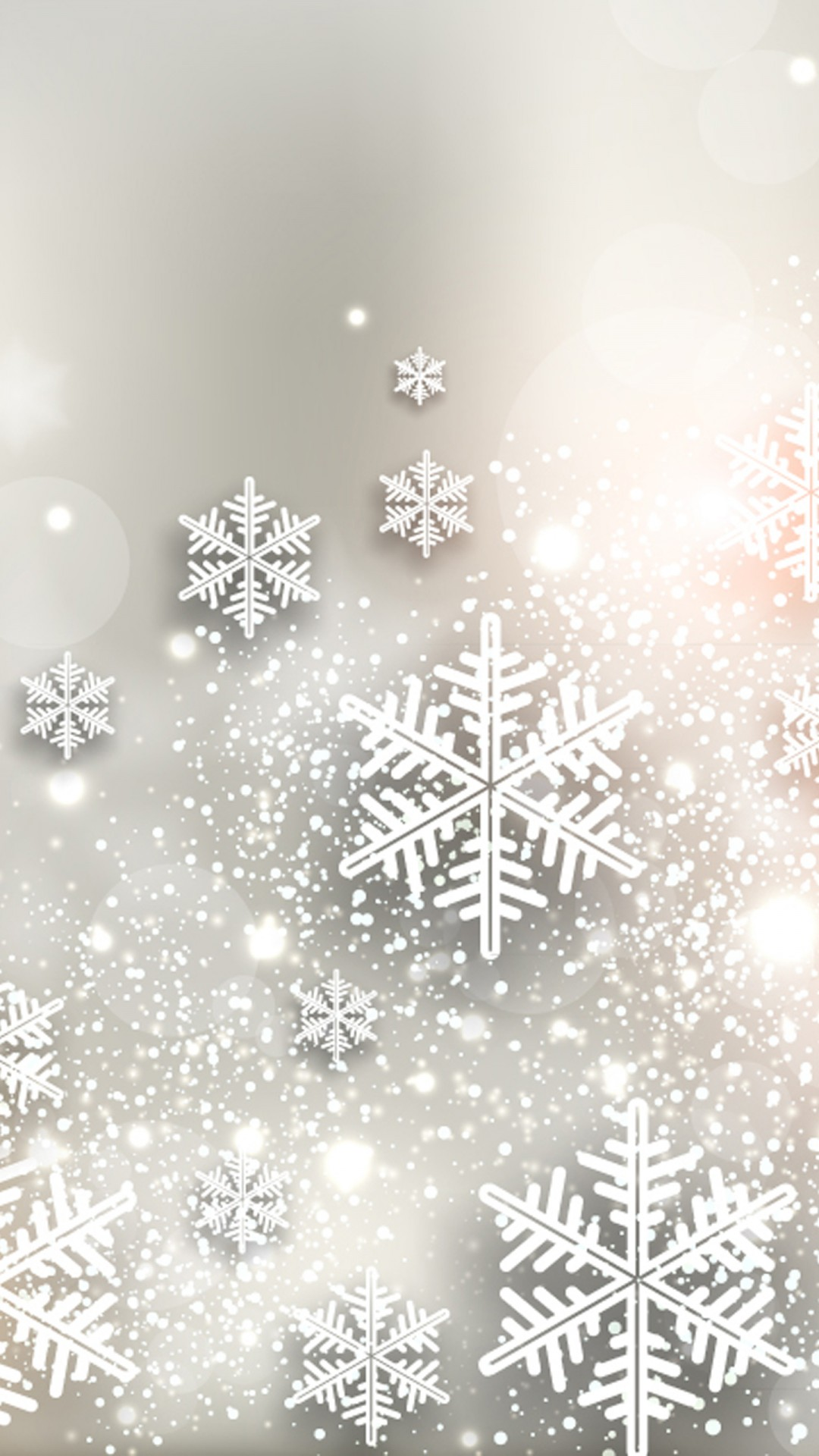 Shiny Snowflakes iPhone 6 / 6 Plus and iPhone 5/4 Wallpapers