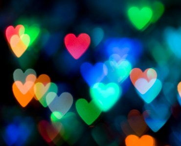 Colorful Blurred Hearts
