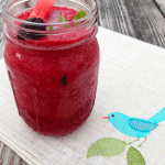 Watermelon Blackberry Mojito Smoothie