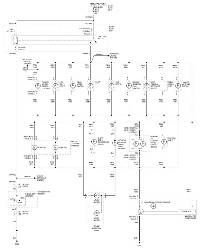 wiring for 98 isuzu  description wiring diagrams www  www