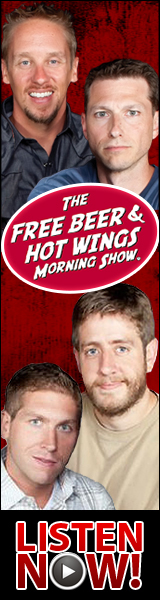 Free Beer and Hot Wings ad banner 160x600