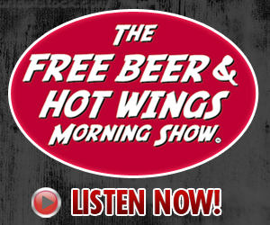 Free Beer and Hot Wings ad banner 300x250