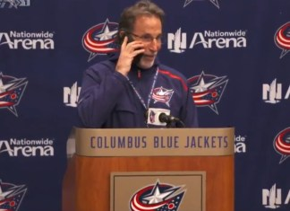 Columbus Blue Jackets Coach John Tortorella Answers Reporter's Phone Call From Mom During Press Conference