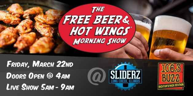 Free Beer and Hot Wings Live in Decatur, IL With 106.3 The Buzz