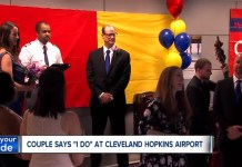 Couple Claim 'I Do' At Cleveland Hopkins Baggage Claim