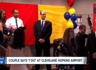 Couple Claim 'I Do' At Cleveland Hopkins Baggage Claim