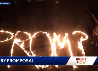 Teen Sets Up 'Fire' Promposal In Date's Driveway