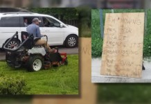 Illinois Man Fed Up With Dollar General's Tall Grass Mows For Free