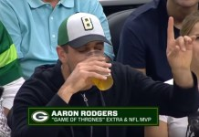 Aaron Rodgers Is Decidedly Terrible At Chugging Beer