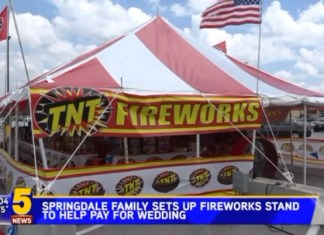 Family Opens a Fireworks Stand To Fund Daughter's Wedding