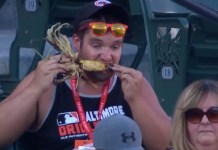 Baseball Announcers Make Fun Of Guy Totally Getting After Corn On The Cob