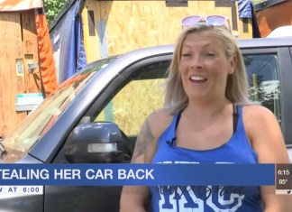 Woman Steals Back Her Own SUV From Thieves