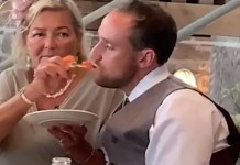 Drunk Groom Had To Be Hand-Fed By His New Mother-In-Law