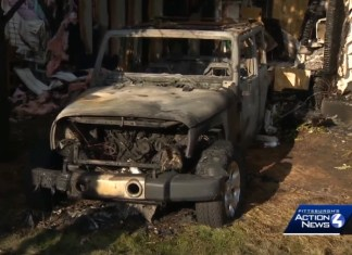 Jeep Crashes Into Home Starts Massive Fire