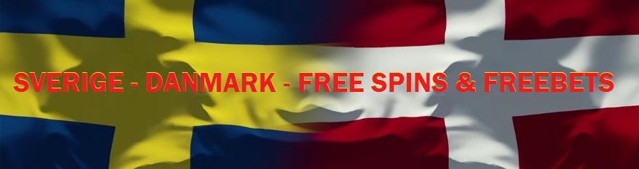 free spins til landskampen sverige danmark