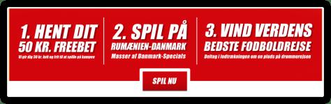Freebets til landskampen Rumænien-Danmark