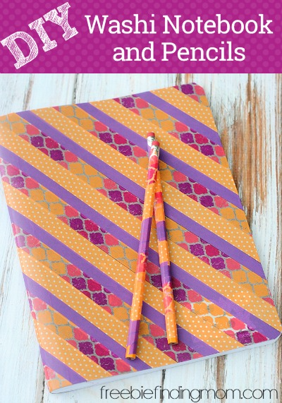 Back To School Art Project DIY Washi Notebook And Pencils