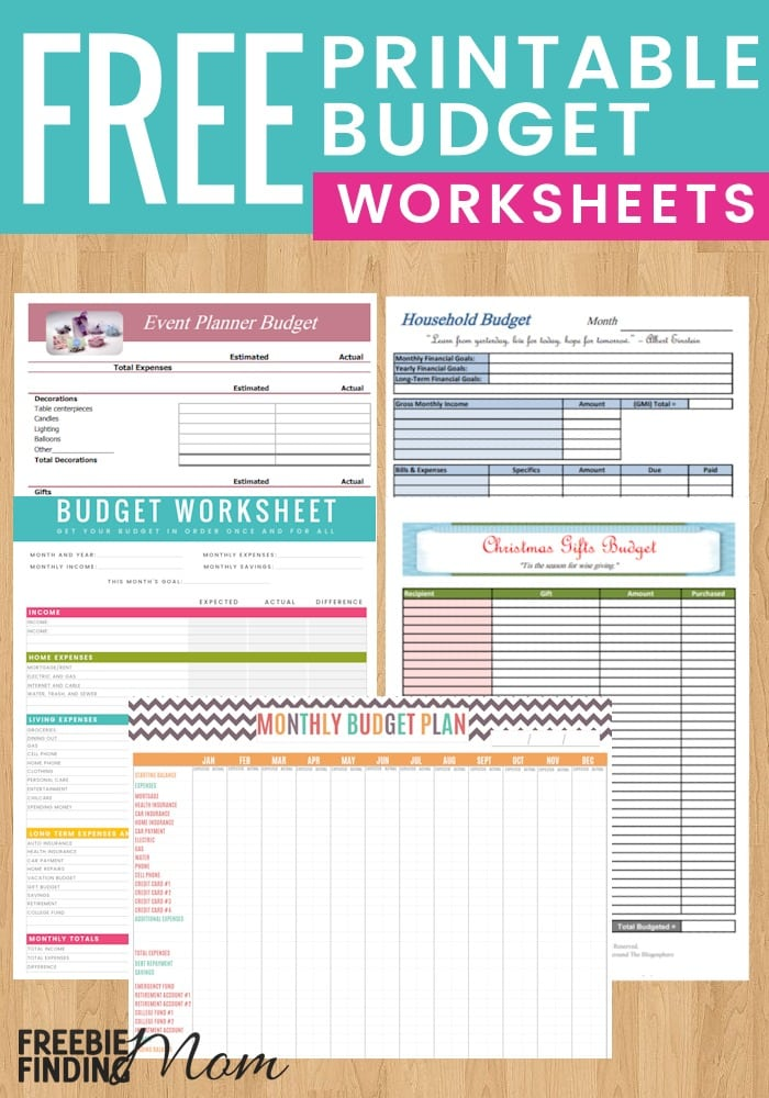 5 Reasons To Use Free Printable Budget Worksheet Templates