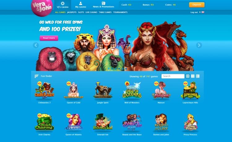 Vera John casino review