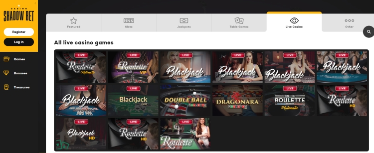 Shadowbet casino review live casino