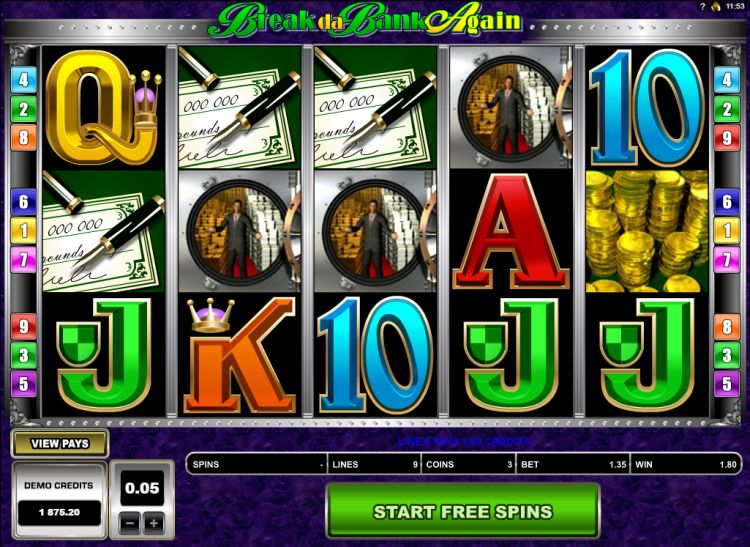 break da bank again slot microgaming