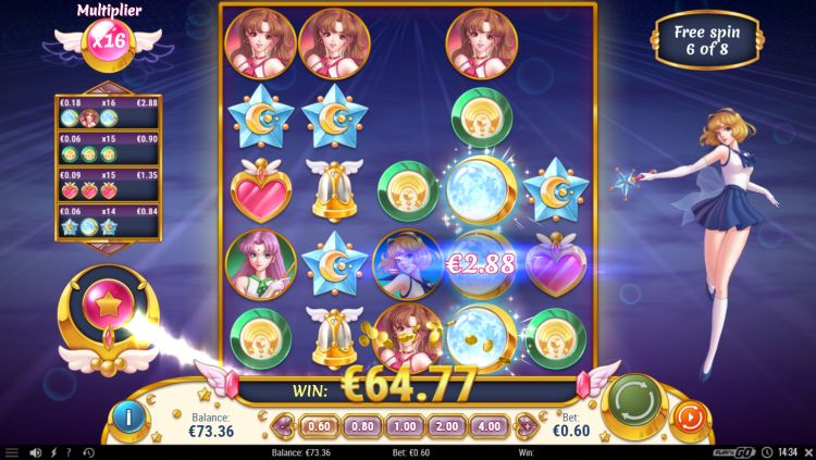 Moon princess bonus game
