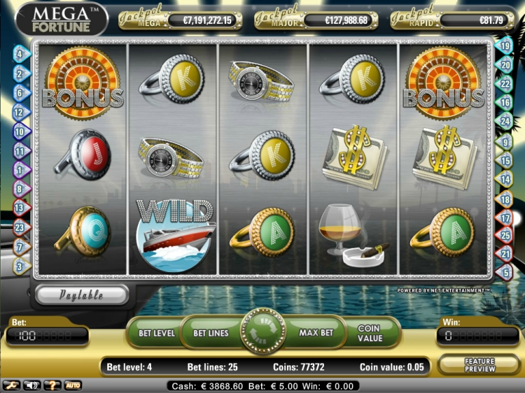 Mega Fortune jackpot won 2018