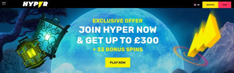 Hyper casino review games selection