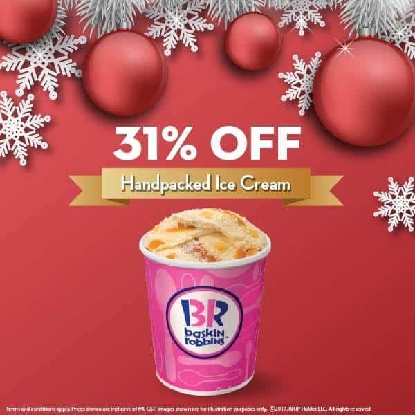 Baskin Robbins 31% Discount