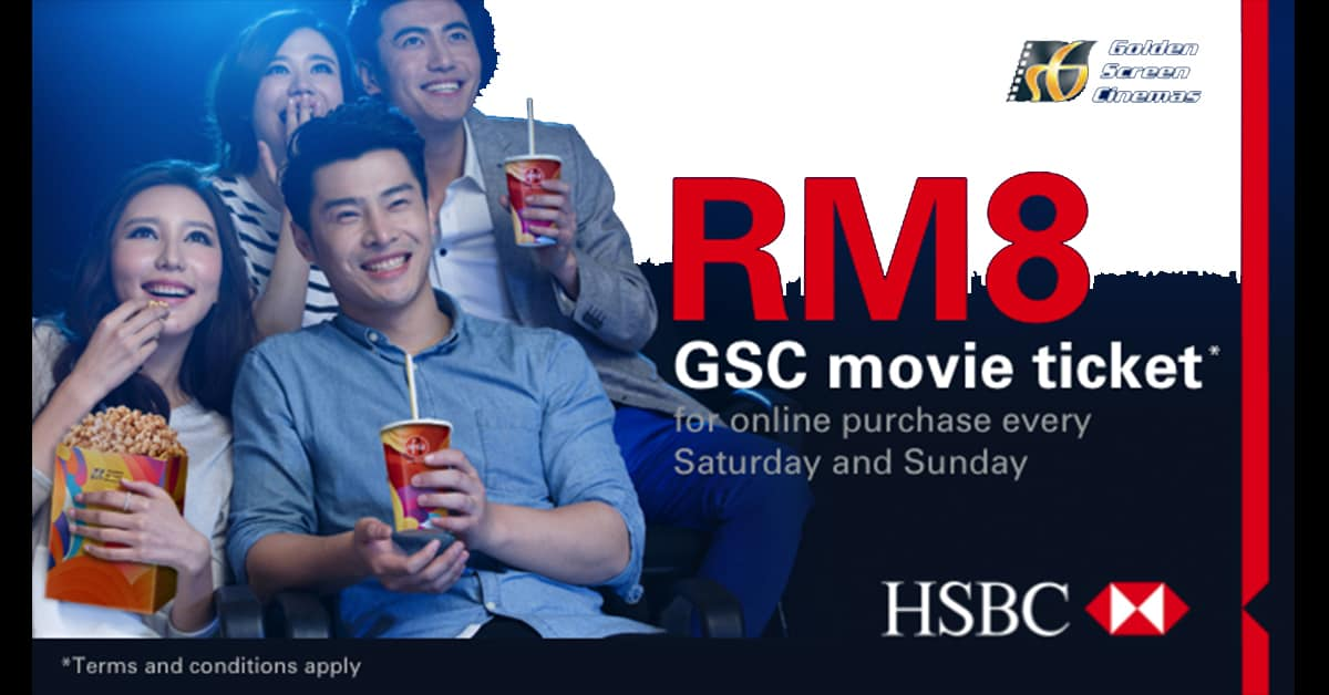 HSBC Credit Card RM8 promotion in GSC every weekend