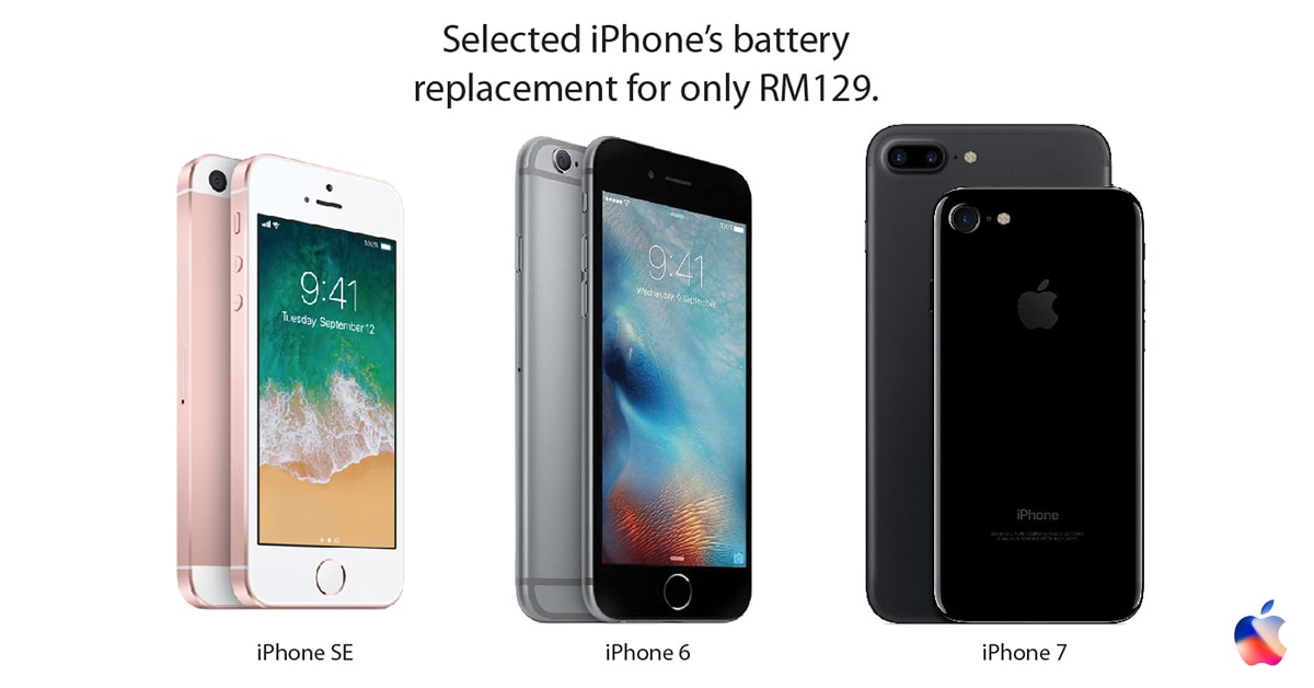 Apple iPhone battery replacement promotion in Malaysia