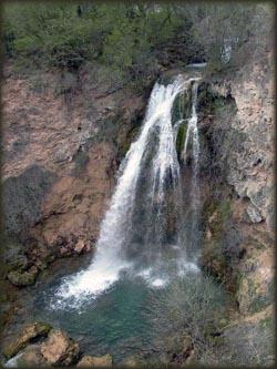 Vodopad na Velikom Vrelu u Lisinama