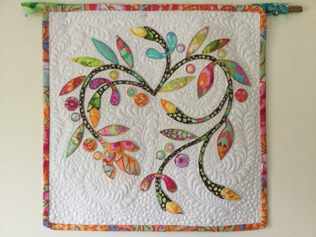 Spring Time Applique Mini Quilt Free Bird Quilting Designs