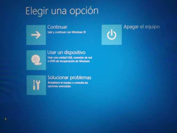 entrar en Modo seguro en windows 10