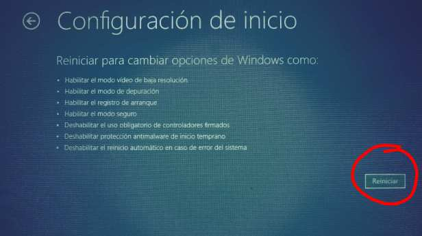 iniciar Modo seguro en windows 10