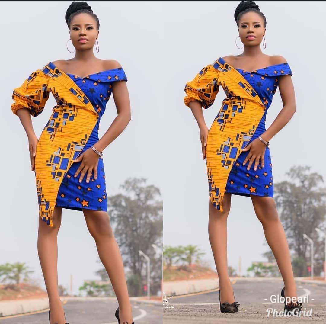 Image result for short ankara gown in 2019