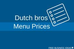 Dutch bros menu and prices