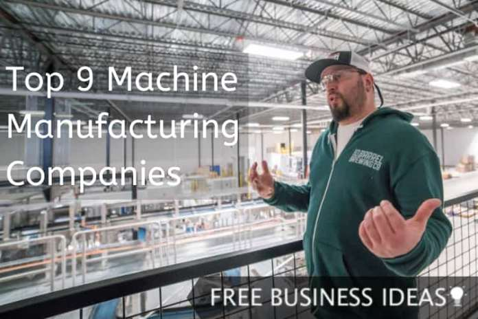 machine manufacturing companies