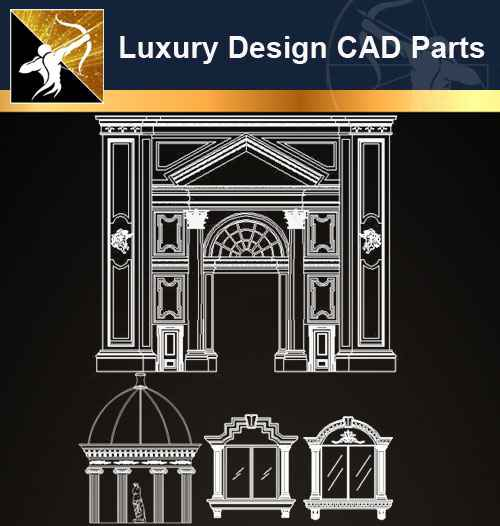 ☆【architecture decoration design element cad blocks v